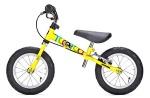 Желтый велосамокат Yedoo Велосипед без педалей для малышей «TooToo» с ручным тормозом