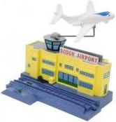 Аэропорт Sodor/Содор с самолётом Джереми для детской интерактивной железной дороги Tomy/Томи из серии «Томас и его друзья»