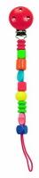Деревянная детская игрушка - клипса для соски Woody «Бусинки»